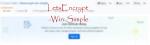 Lets Encrypt Win Simple
