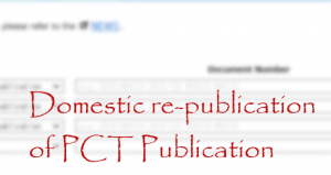 Domestic re-publication of PCT Publication