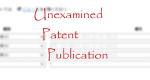 Unexamined Patent Publication