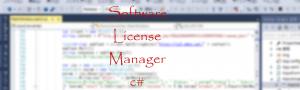 Software License Manager C#