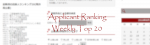 Applicant Weekly Ranking Top 20